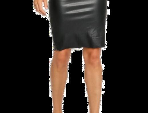 Liquid Leather Pencil Skirt