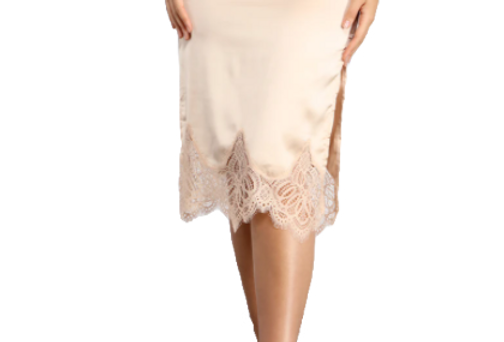 satin and lace skirt
