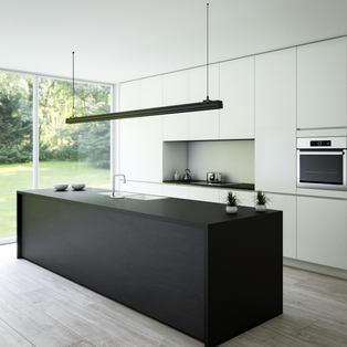 Minimal Green Kitchen