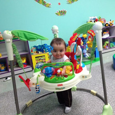 Just Hanging in the Infant Classroom!