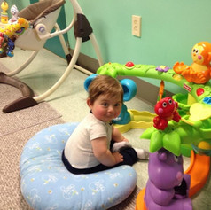Learning to sit up in the Infant Classroom!