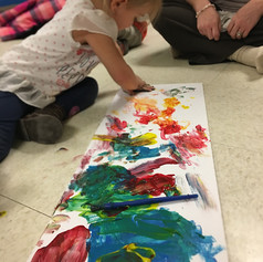 Painting in the Toddler Room