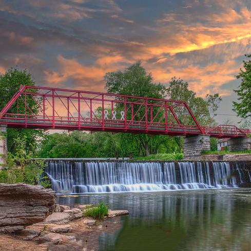 Sunset/Sunrise & a Canyon - Old Appleton Bridge/Trail of Tears State Park/Lon Sanders Canyon