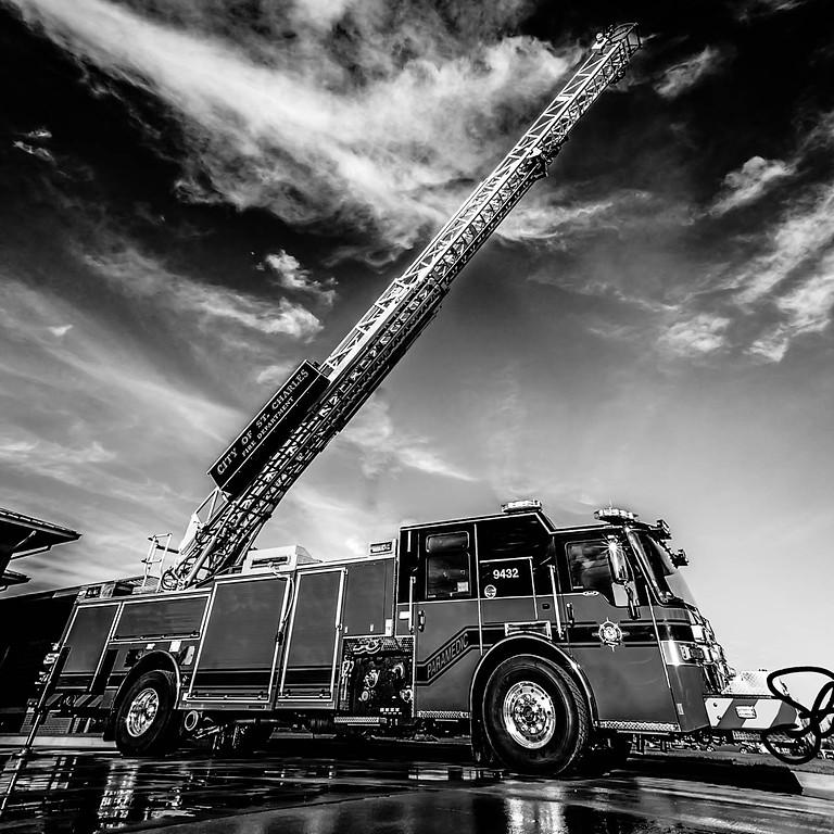 FIRE!!! Fireman, fire house, fire truck, hoses, ladders, axes - Crestwood Fire Station -
