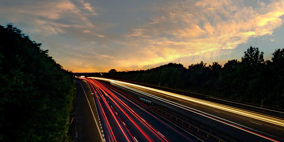 Sunset and Long Exposures at the Highway - Near Olive and 270