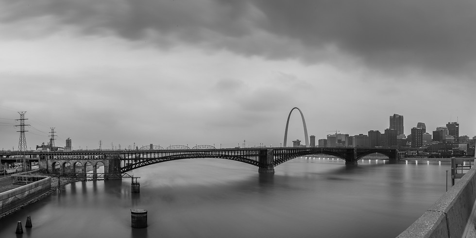 The ARCH from the MLK bridge - probably one of the last times!!!
