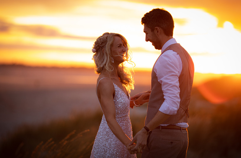 Stunning sunset wedding photography West Sussex