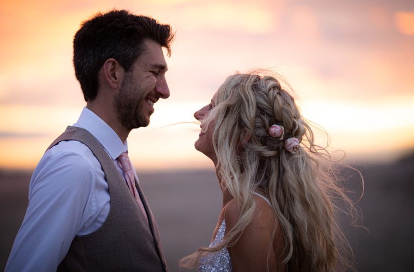 Bride and groom photography for wedding in Chichester