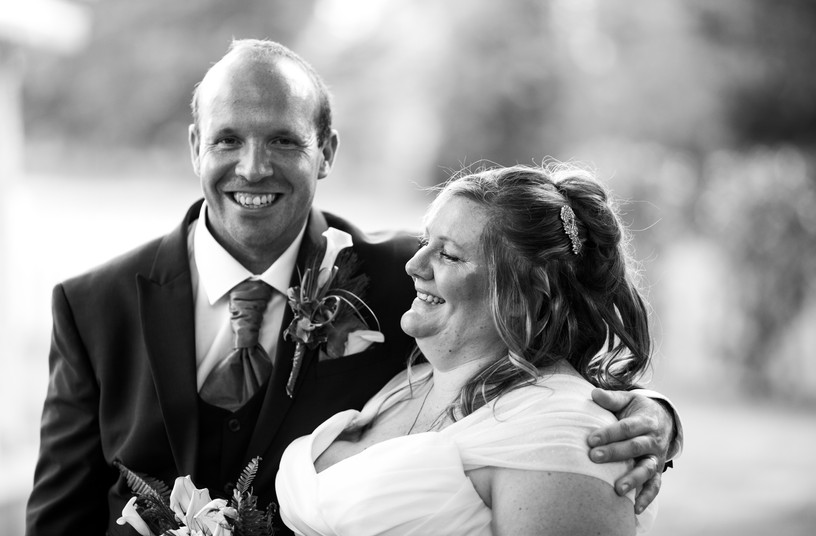 Wedding photos of couple in West Sussex