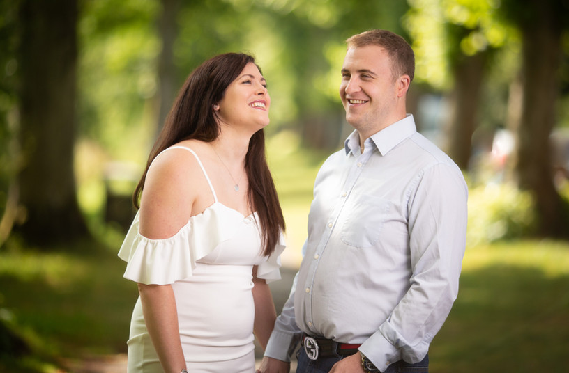 Engagement shoot for wedding couple in Arundel West Sussex