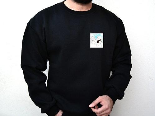 Kişiye Özel Çizimli 2 Adet  Siyah Sweatshirt