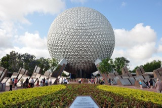 Spaceship Earth, the geodesic dome at the entrance of EPCOT