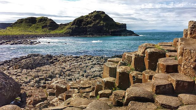 The Giant's Causeway in Country Antrim, Ulster, Northern Ireland
