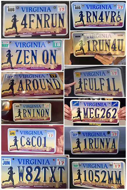 Custom Meg's Miles license plates