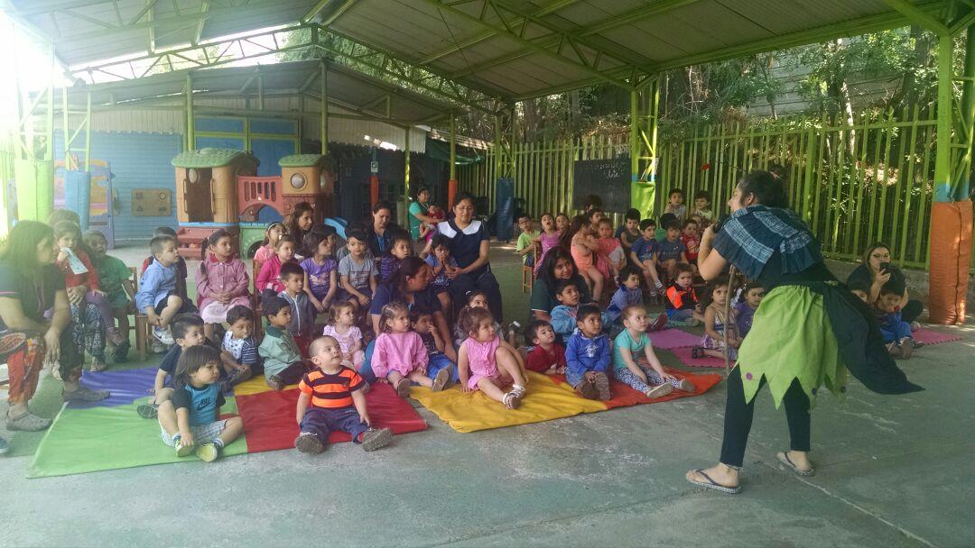obra El Rey de Las Hormigas en jardin infantil