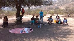 Tiempo de oracion en el cerro el Panul