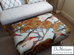 Mulberry Fabric Foot Stool