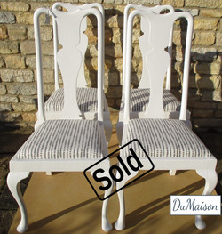 Queen Anne Dining Chairs - Sold