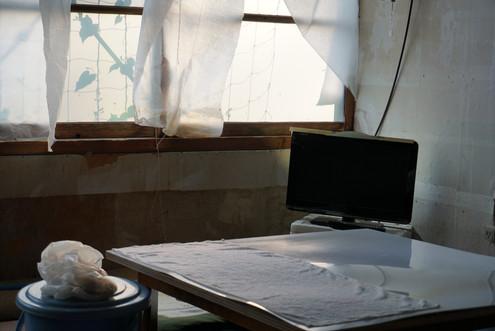 和紙のカーテン