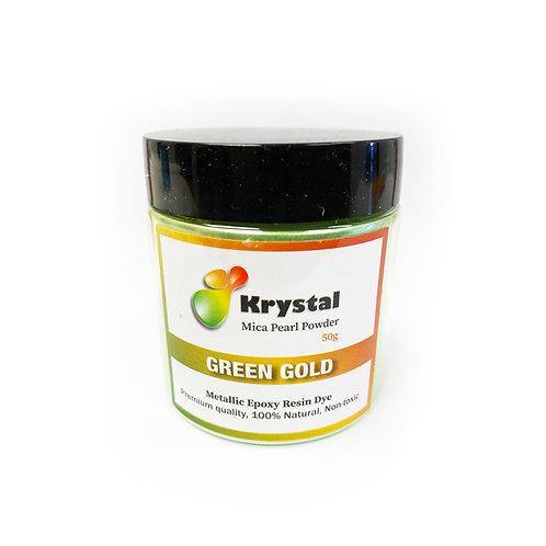 50g Green Gold Mica Powder