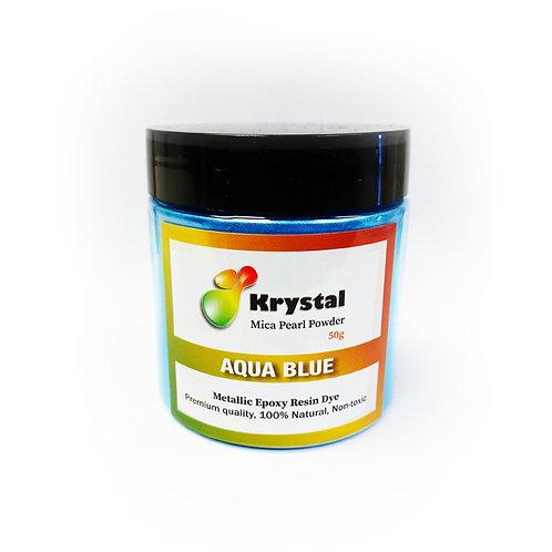 50g Aqua Blue Mica Powder