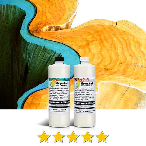 1 Litre (33.8 oz) Clear Epoxy Resin Kit