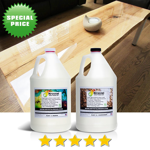 2 Gallons Clear Epoxy Resin Kit