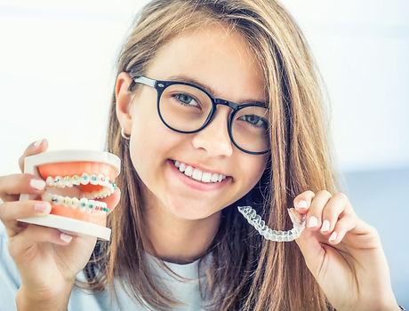 Dental invisible braces or silicone trai