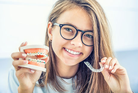 Dental invisible braces or silicone trai