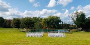 Pond Ceremony September Wedding 2020