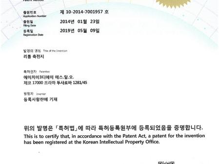 Nový patent HE3DA v Koreji