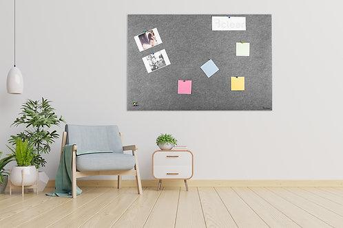 לוח אקוסטי לנעיצה צבע אפור
