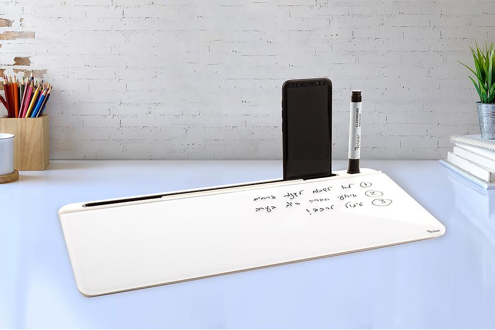 לוח שולחני לוח מחיק לשולחן לוח זכוכית מחיק לשולחן