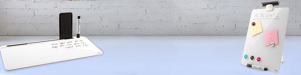 DEB - לוח שולחני, לוח מגנטי לשולחן, לוח מגנטי קטן, לוח לעבודה מהבית של המותג ביקליר Bclear