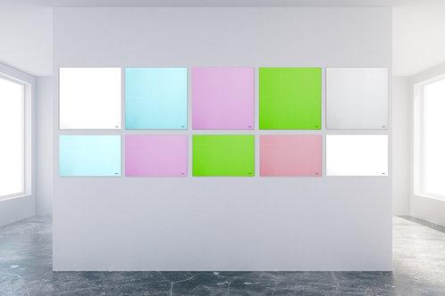 לוחות זכוכית מחיקים צבעונים ומגנטים Bclear