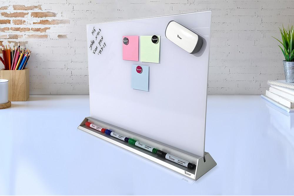 לוח מחיק מגנטי לוח שולחני לוח זכוכית מגנטי לעבודה בבית ובמשרד