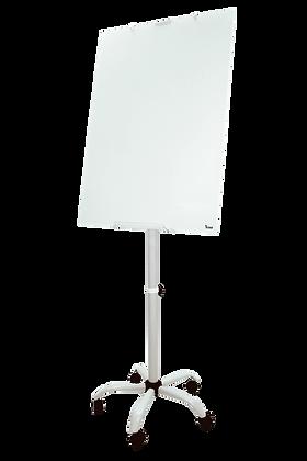 לוח זכוכית מחיק מגנטי נייד על גלגלים - פליפ צ'ארט