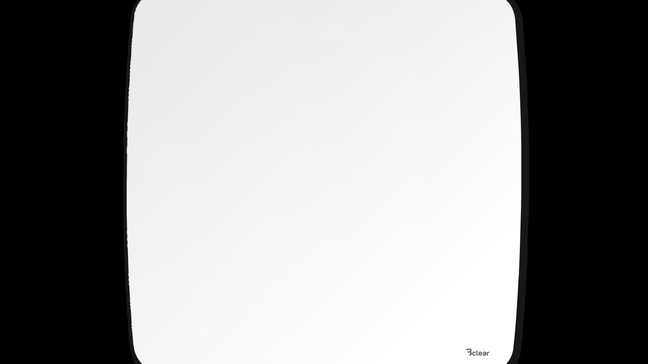 """לוח זכוכית מחיק ומגנטי, לבן מעוגל אובלי Bcler Shape גודל 85/85 ס""""מ"""