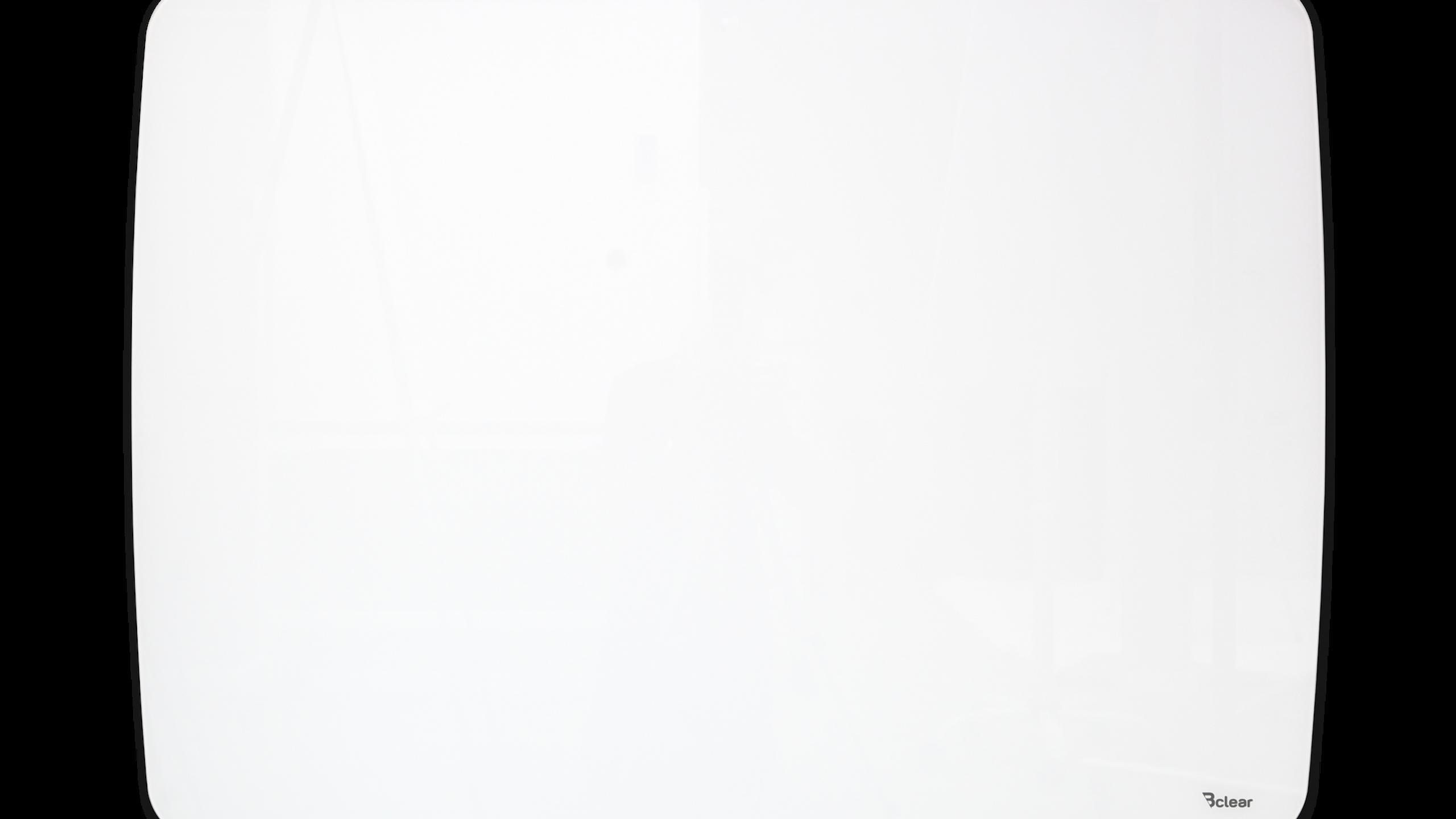 לוח זכוכית מחיק ומגנטי, לבן מעוגל אובלי Bcler Shape