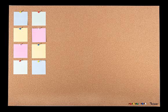 לוח שעם בתליה נסתרת בצבע חום בהיר - ללא מסגרת
