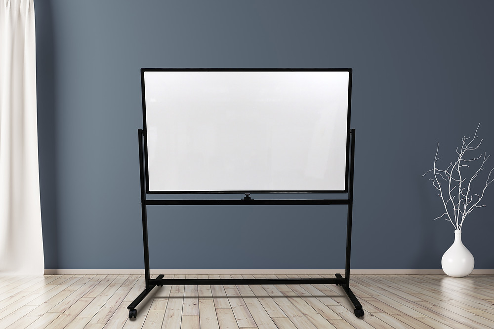 לוח מגנטי מחיק נייד דו-צדדי לחדר ישיבות קטן ולכיתה