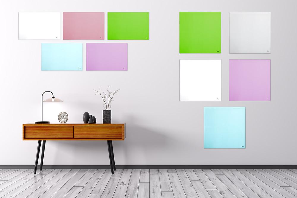, DEB בילקיר לוח מחיק מגנטי צבעוני קטן לתליה על הקיר , לוח זכוכית מעוצב
