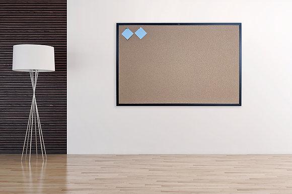לוח שעם עם מסגרת עץ שחורה לנעיצה סדרת Prime