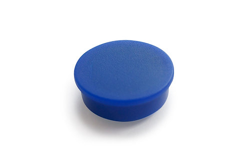 מגנט כפתור מפלסטיק ללוח מגנטי - צבע כחול