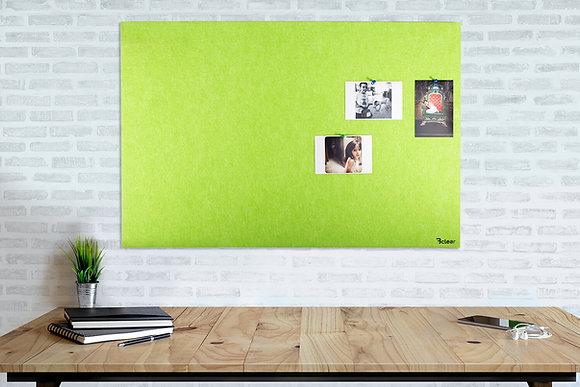לוח אקוסטי לנעיצה בתליה נסתרת בצבע ירוק - ללא מסגרת