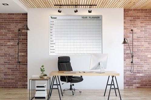 לוח תכנון שנתי מחיק ומגנטי מזכוכית - Bclear