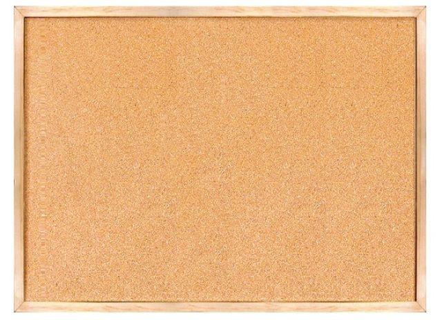 לוח שעם בצבע טבעי עם מסגרת