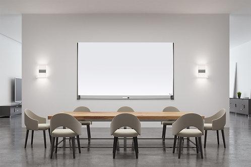 לוח זכוכיתמחיק מגנטי מעוצב לבן עם התקנה נסתרת מהמותגBclear