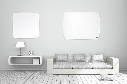 לוח זכוכית מחיק מגנטי לבן בעיצוב מעוגל עם התקנה נסתרת - Bclear