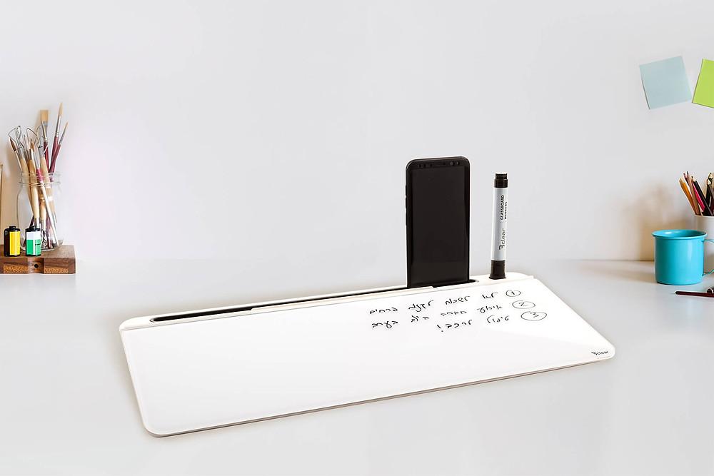 bclear לוח מחיק מגנטי שולחני כמו קלמר ללא תליה - כלי עזר ללמידה ולתזכורות ביקליר